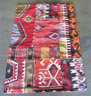 Patchwork Kilim Rug Eclectic Rugs By The Loaded Trunk