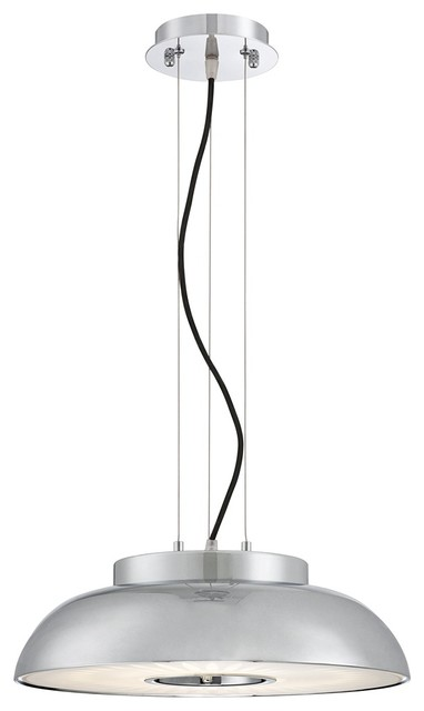 Possini euro cromo15 3 4 wide chrome and black led for Possini lighting website