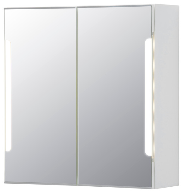STORJORM Mirror cab 2 door/built-in lighting - Contemporary - Medicine Cabinets - by Ikea UK