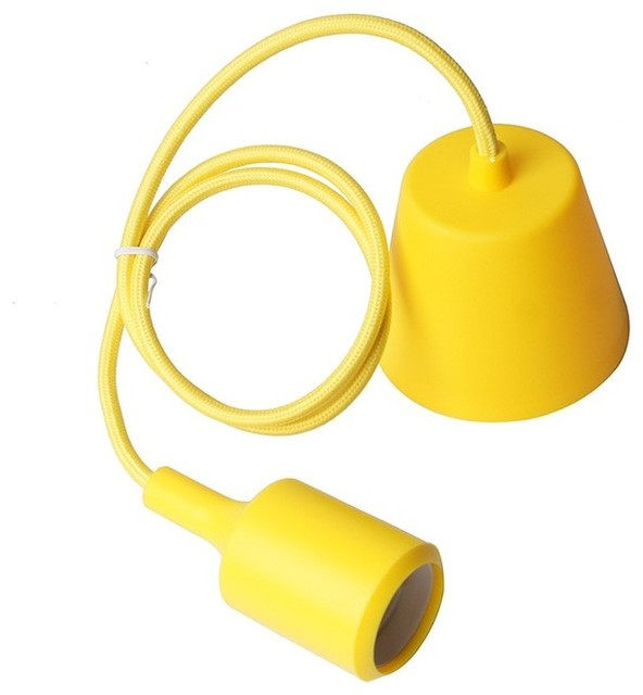 Plastic Canopy Pendant Light Yellow