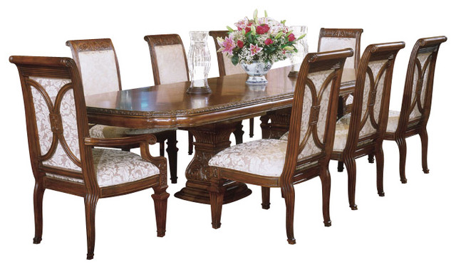 villagio rectangular dining room set 9 piece traditional dining sets