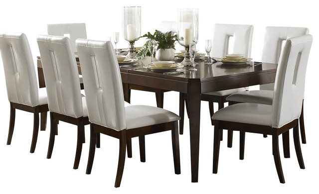 Homelegance Elmhurst 5 Piece Leg Dining Room Set In Brown Cherry Traditiona