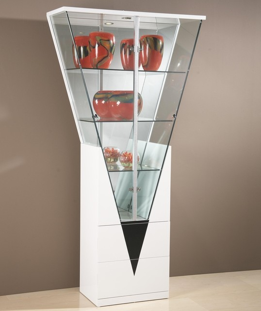 Triangular Shaped Curio Cabinet - Contemporary - China Cabinets And ...