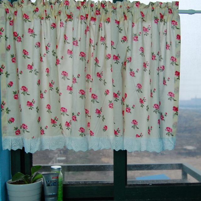 cute bears kitchen window curtain bathroom curtain