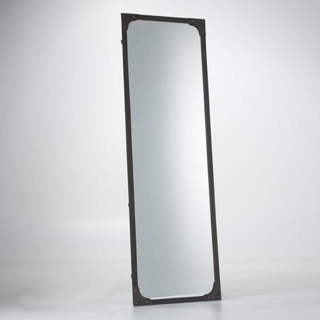 Miroir m tal taille xl style industriel lenaig for Miroir mural metal