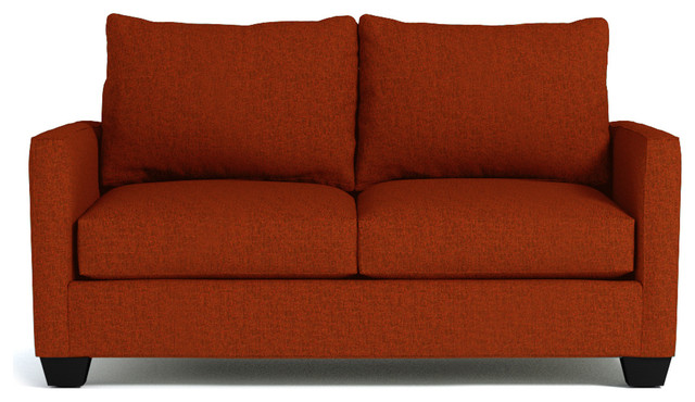 tuxedo apartment size sofa pumpkin contemporary sofas