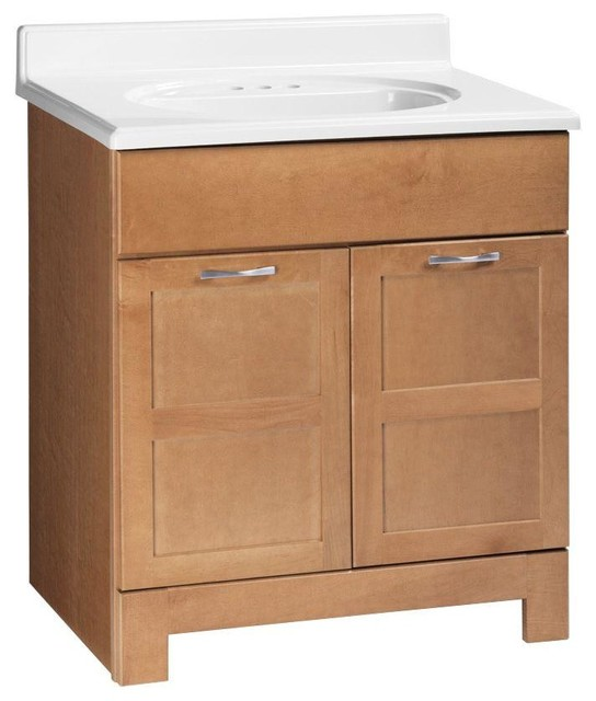 Glacier Bay Cabinets Casual 30 in. W x 21 in. D x 33-1/2 in. H Vanity Cabinet - Contemporary ...