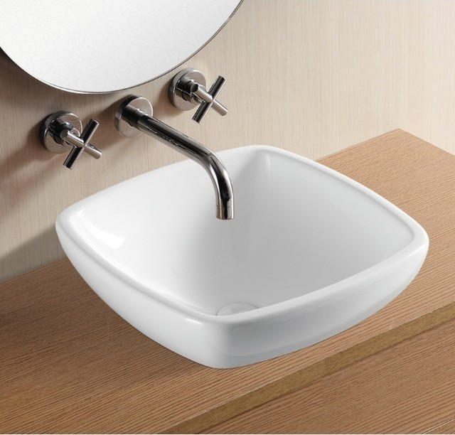 ... Ceramic Vessel Bathroom Sink by Caracalla contemporary-bathroom-sinks