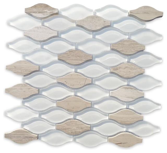 Iota Fleur De Sel Glass And Marble Tile Tile By Tilebar