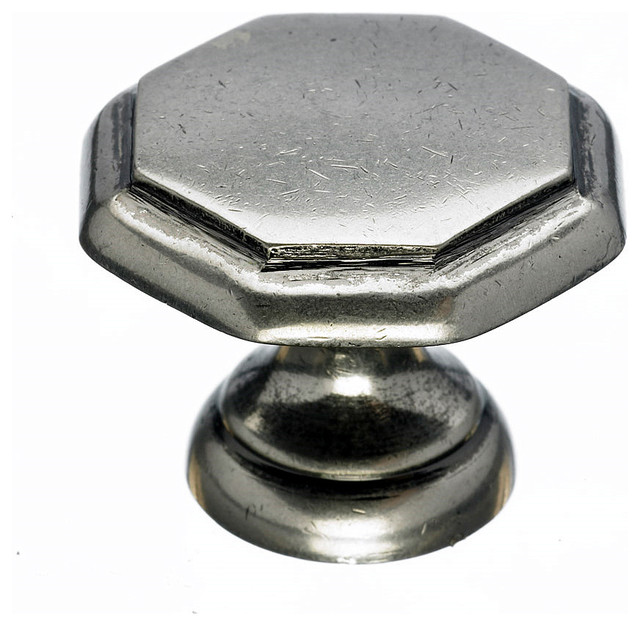 Pewter Square Knobs, 1 1/4 in. - Traditional - Cabinet And Drawer Knobs - by Simply Knobs And Pulls