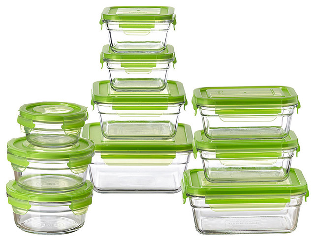10 piece container set contemporary kitchen canisters