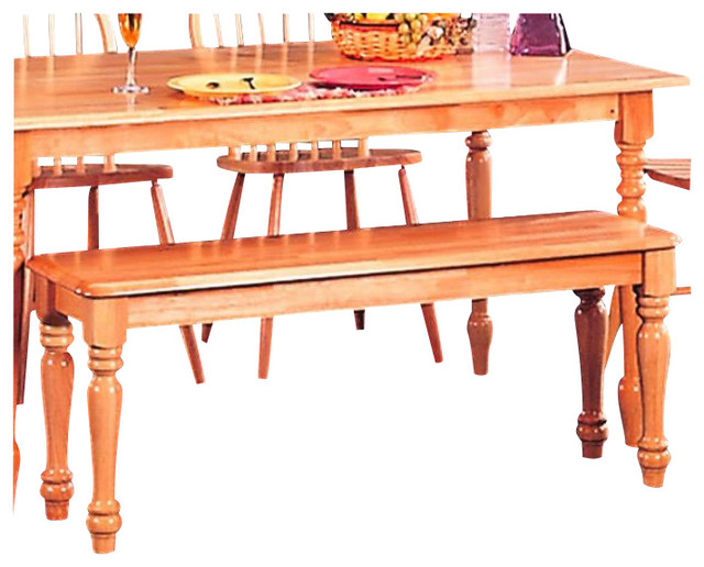 Coaster Damen Traditional Wood Dining Bench In Warm