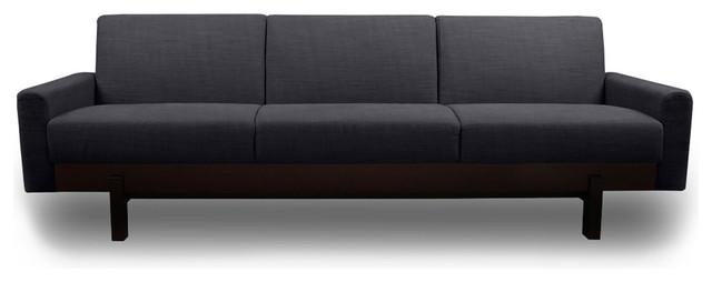 Paddington Dark Grey 3 Seat Couch Modern Sofas