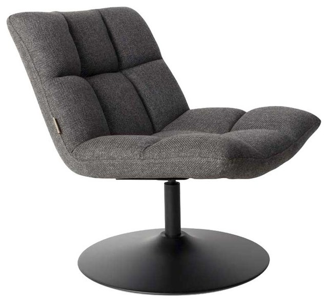 fauteuil tissu pivotant lounge bar couleur gris anthracite moderne fauteuil par. Black Bedroom Furniture Sets. Home Design Ideas