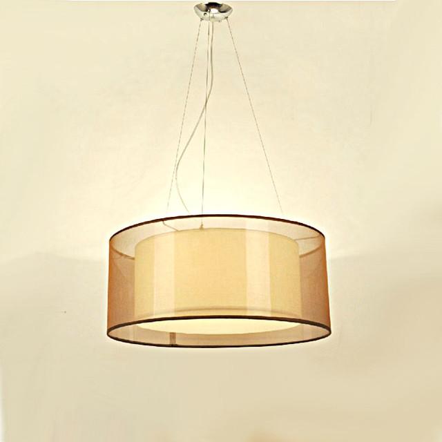 PHX Modern Gauze And PVC Shade Pendant Lighting Contemporary Pendant Ligh