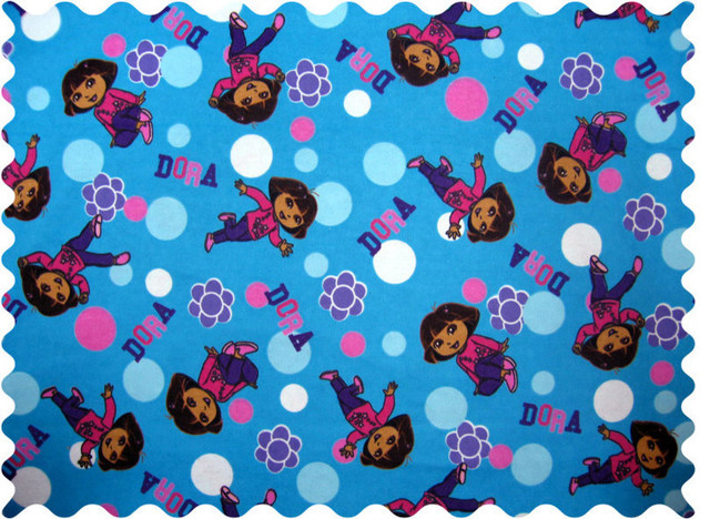 sheetworld dora blue fabric   by the yard   traditional   fabric   by