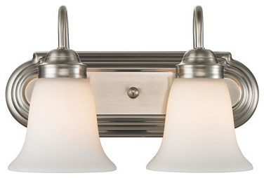 Brookfield Pewter Two Light Bath Fixture Traditional Bathroom Vanity Ligh