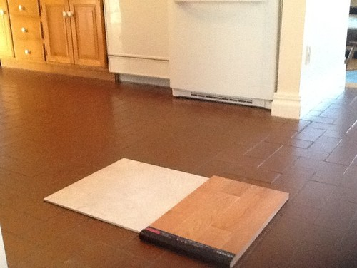 Replacing tile floor with wood