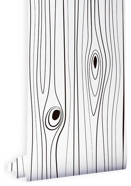 Papier peint wood black and white contemporain papier peint other metro par all the - Papier peint ontwerp contemporain ...