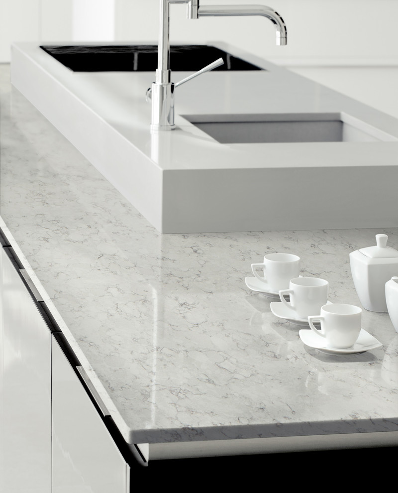 Silestone Nebula Alpha by Cosentino in Orion White