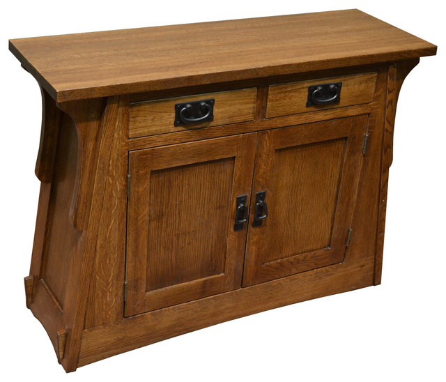 Arts And Crafts, Mission Crofter Style Entry Cabinet, English Oak - Craftsman - Console Tables ...