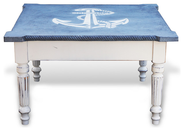 Nautical Square Coffee Table Beach Style Coffee Tables By Recherche Furnishings Inc