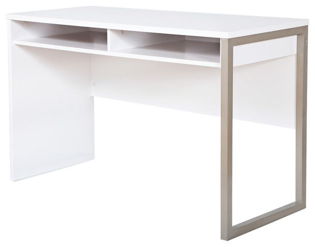 Interface Pure White Modern Open Storage Desk contemporary  : contemporary dining tables from houzz.com.au size 640 x 502 jpeg 23kB