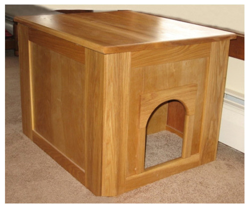 Flat Panel Litter Box Concealment Cabinet - Modern - Litter Boxes And Covers