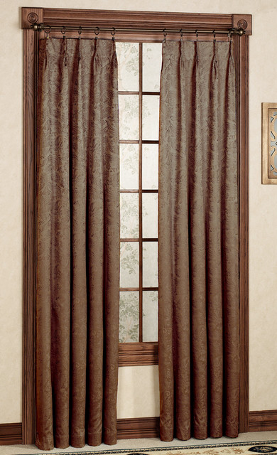 Pinch Pleat Curtains - Traditional - Curtains - other metro - by Swags ...