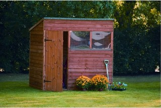 Premium overlap pent shed 5x7 traditional sheds by for Garden shed 5x7