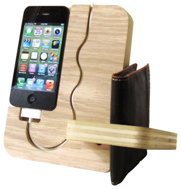 iPhone Docking Station - Contemporary - Storage And ...