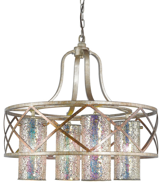 Woodbridge Lighting Four Light Braid Chandelier Chandeliers By Woodbridge Lighting Inc
