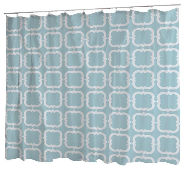 Uneekee Amara Blue Gentle Square Shower Curtain