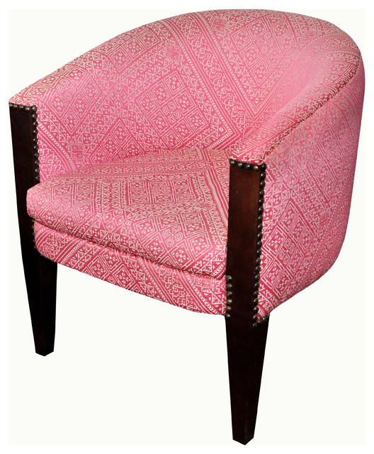 Pink Tub Chair Armchairs & Accent Chairs london by
