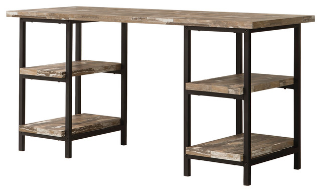Skelton Rustic Writing Desk Industrial Desks And