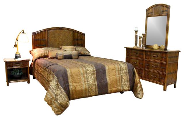 polynesian furniture. Polynesian 4 PC Twin Bedroom Set In Antique Finish Furniture