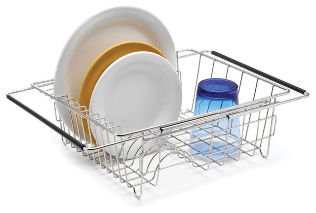 Expandable In Sink Dish Rack Contemporary Dish