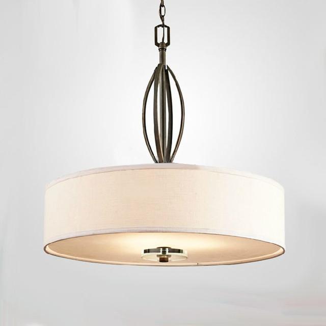 Northic Flax Shade And Iron Art Pendant Lighting Contemporary Pendant Lig