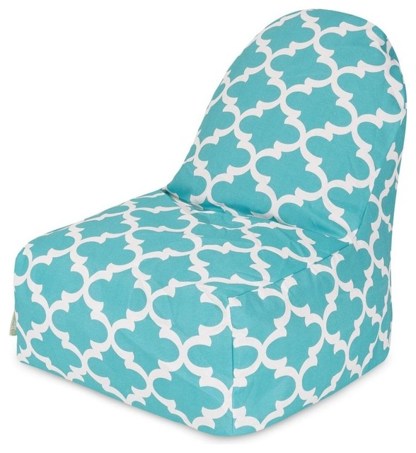 teal trellis kick it chair transitional bean bag chairs by majestic home goods. Black Bedroom Furniture Sets. Home Design Ideas