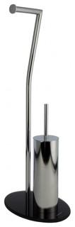 stand toilettenb rste mit papierhalter modern wc. Black Bedroom Furniture Sets. Home Design Ideas