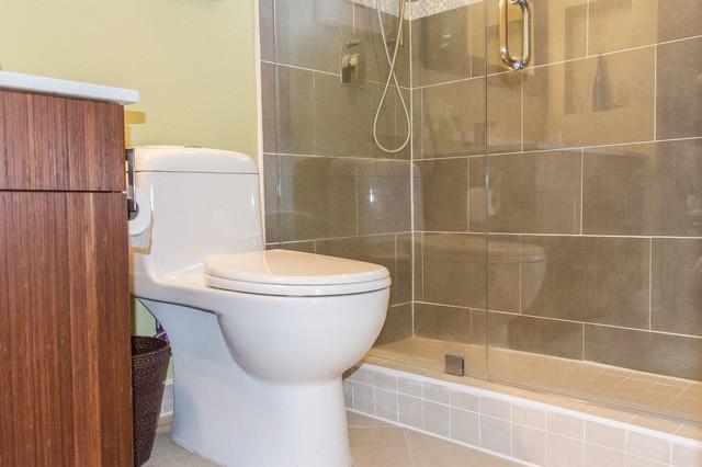 west miami bath remodel transitional
