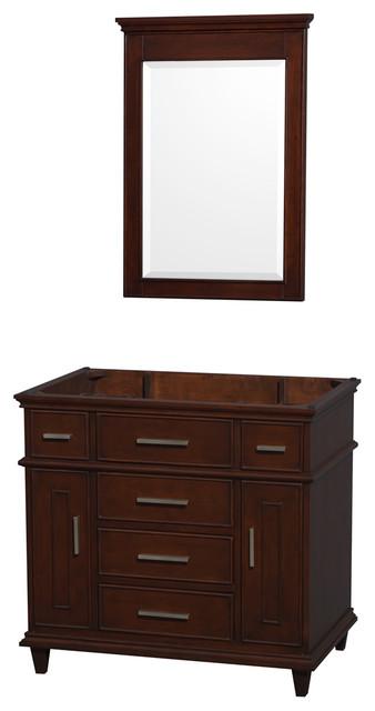 Berkeley 36 dark chestnut vanity no top and no sink - Muebles de lavabo ...
