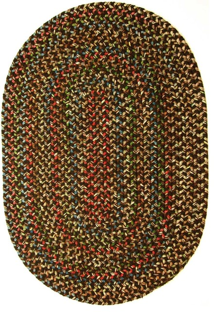 10 X13 Oval Large 10x13 Rug Brown Textured Braided