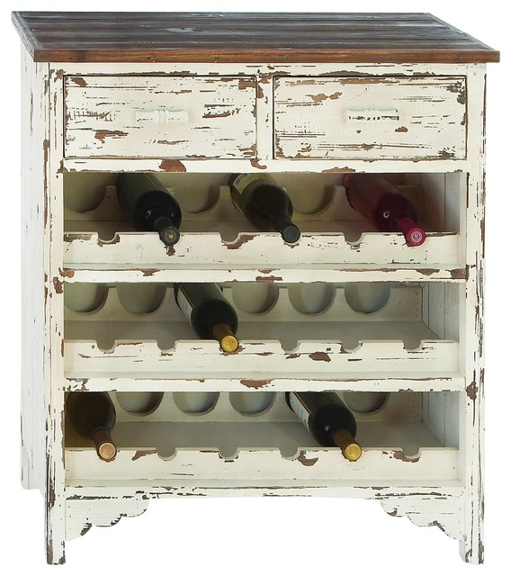 Weathered Wood Wine Cabinet - Beach Style - Wine And Bar Cabinets - by ...