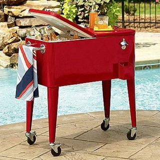 Rolling Outdoor Cooler Cart - Modern - Coolers And Ice Chests - Other - by Global Sources