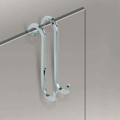 Over The Door Chrome Or Gold Shower Hook 85031 Contemporary Robe To