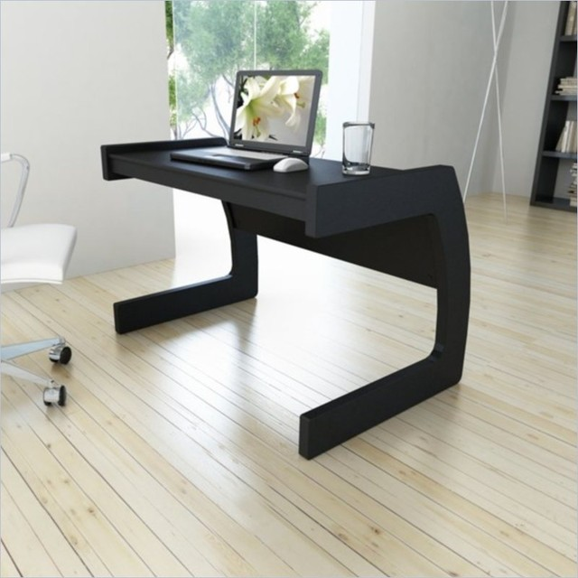 Contemporary Black Desk Sonax contemporary workspace desk in midnight