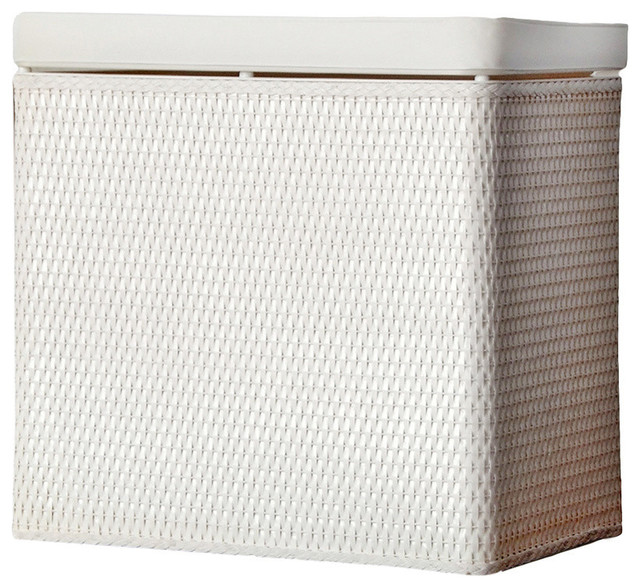 Lamont Home Laundry Storage Carter Bench Hamper White