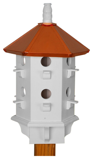 Purple Martin House Copper Roof Hand Painted White