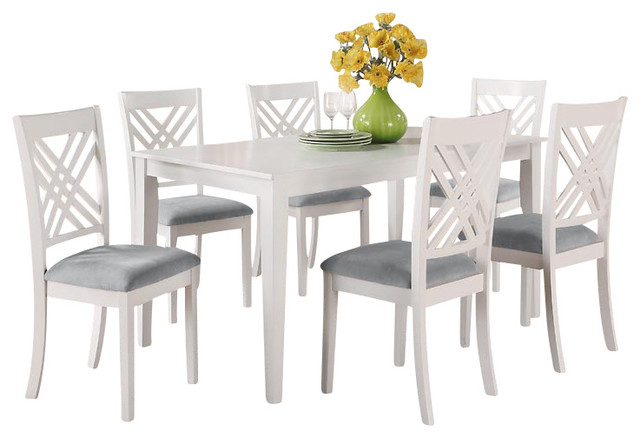 Standard furniture brooklyn rectangular dining table with for White dining table and 6 chairs
